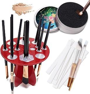 Kalevel Makeup Brush Color Removal Sponge Drying Organizer Rack 14 Holes Dryer Holder with Bonus Makeup Brushes Protector ...