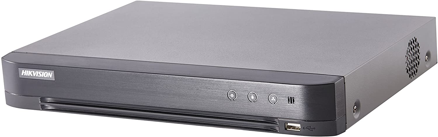 Hikvision H.265 Pro+ Turbo HD 8MP 8CH DVR 4K HDMI Supports up to 8MP TVI/ 5MP AHD/ 5MP CVI/ Plus 8-CH 8MP IP CAM, 1-Sata HDD (HDD not Included)