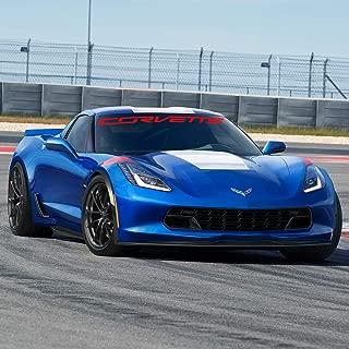 C7 Corvette Windshield Decal Kit (Corvette Script Red)