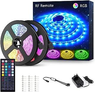 12M Tira LED RGB, NOVOSTELLA 24V 360 LEDs Tiras Luces Multicolor SMD5050, Tira Iluminación DIY Flexible Multicolor con RF Control Remoto de 44 Teclas, Decoración para Techo, Escaparate, Muebles
