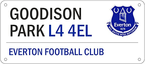 Everton FC Official Football Crest Street Sign One Size White Blue