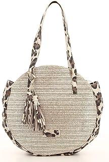 277779eb30 Fuchsia - Sac ethnique femme rond en raffia porté épaule Malone (f9825-6)