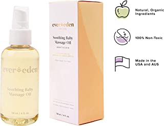 Evereden Baby Soothing Organic Baby Oil - Natural Baby Oil & Bath Oil for Dry Skin Care and Cradle Cap, Fragrance Free Skin Oil with Avocado Oil and Sunflower Oil for Baby Care & Eczema Relief