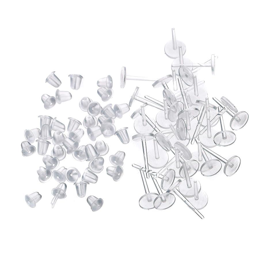 戸口部門競うシークレットピアス 樹脂透明ピアス 金属アレルギーフリー ピアスホール維持に最適 (20セット)