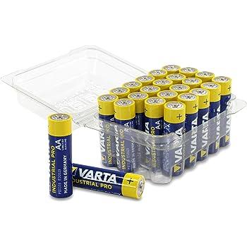 Varta Industrial - Batería Caja de 24 Pilas AA. AA: Amazon.es: Electrónica