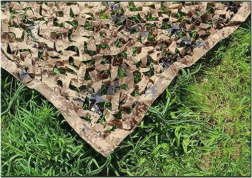 Qjifangzyp Auvent de terrasse Filet de Camouflage du désert, Chasse en Plein air Filet de Camouflage de Camping (Plusieurs Tailles) Filet de Camouflage Filet de Prougeection Solaire (Taille   4  5m)