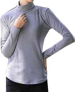 بلوزة حريمي برقبة عالية من SportsXX تيشيرت بكم طويل نقي بحجم كبير