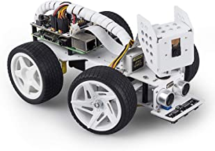 SunFounder Raspberry Pi Smart Video Robot Car Kit for Raspberry Pi, Supports Ezblock/Python Code Control and Web Control. ...