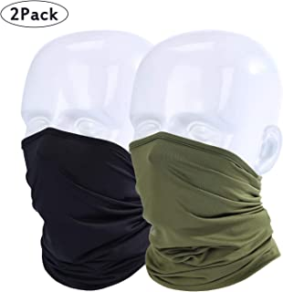 LUVNFUN Neck Gaiter for Men Women Half Face Mask for Dust, Cycling Motorcycling Running Skateboarding Any Outdoor Sports, 2 Pack or 1 Pack, Lightweight and Breathable