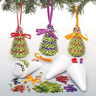 Baker Ross Kits de árboles de Navidad Decorativos para Decorar con Lentejuelas (Paquete de 3