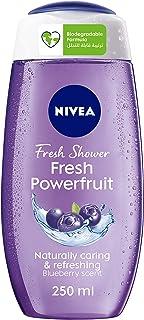NIVEA Fresh Powerfruit Shower Gel Antioxidants Blueberry Scent, 250 ml