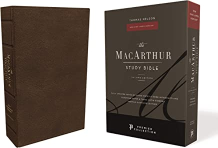 Nkjv, MacArthur Study Bible, 2nd Edition, Premium Goatskin Leather, Black, Premier Collection, Comfort Print: Unleashing God's Truth One Verse at a Time