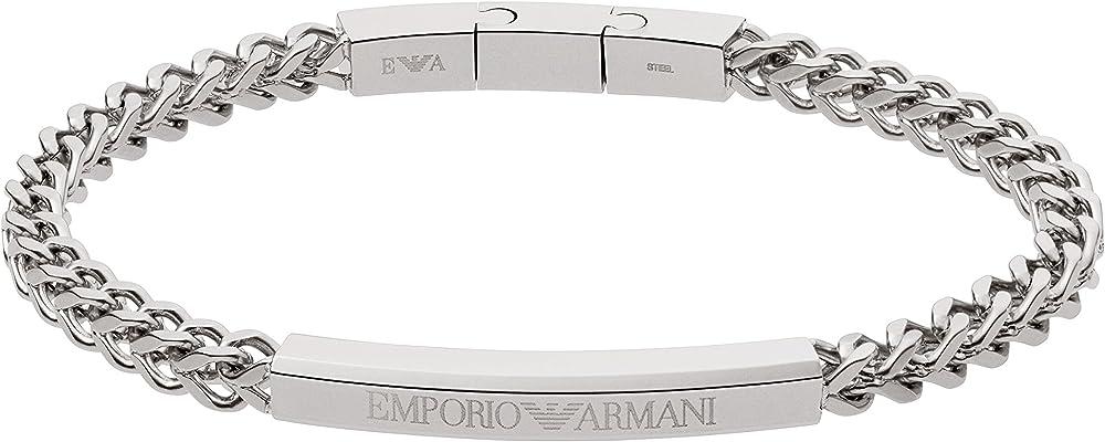 Emporio armani, bracciale per uomo,in acciaio inossidabile EGS2416040