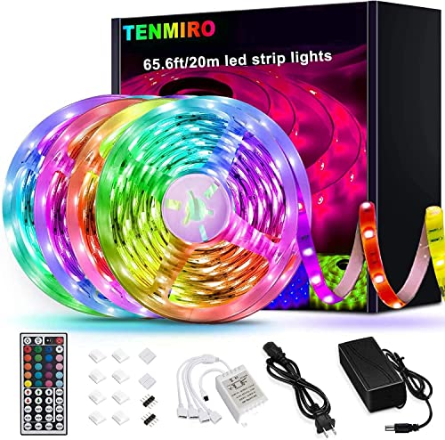popular Tenmiro 65.6ft Led outlet sale Strip Lights, Ultra Long RGB 5050 lowest Color Changing LED Light Strips Kit with 44 Keys Ir Remote Led Lights for Bedroom, Kitchen, Home Decoration online