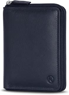 KORUTA® Geldbörse Damen Leder mit RFID Schutz I Portemonnaie Damen Groß mit Münzfach I Echtleder Geldbeutel für Frauen I B...