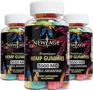 New Age Naturals Advanced Hemp Big Gummies 3000mg 180ct - 3 Pack - 100% Natural Hemp Oil Infused Gummies