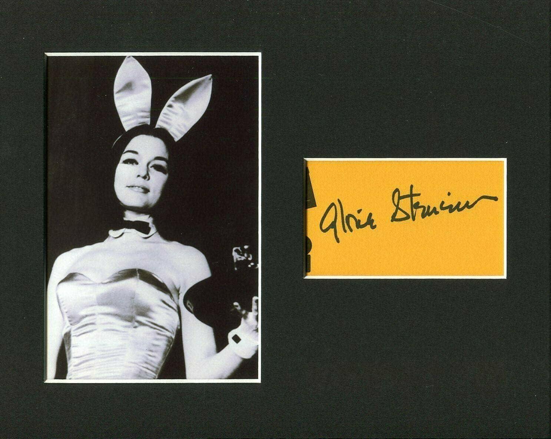 Gloria Steinem Feminist Journalist Playboy Signed Bunny Low price Autograp Tulsa Mall