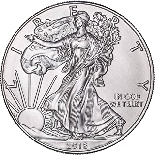 Plata Americana 2018 con soporte para Airtite Plata Dólar Brillante sin circular.