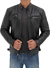 cafe leather motorcycle jacket