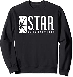 DC Comics Flash Star Labs Logo White Sweatshirt