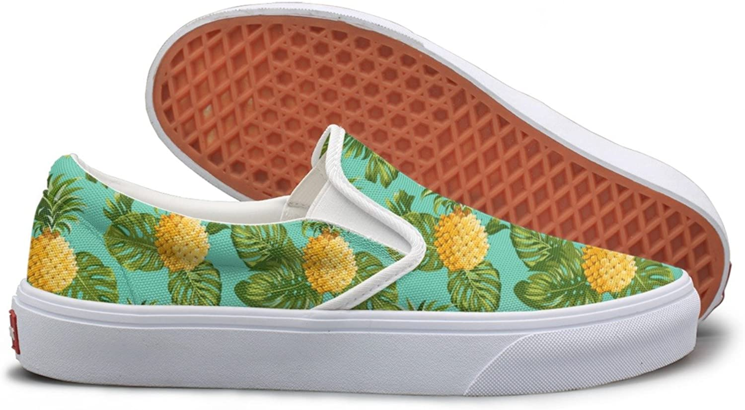 Pineapples And Tropical Leaves Background Lightweight Sneakers For Women