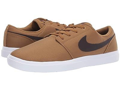 Nike SB Portmore II Ultralight (Golden Beige/Velvet Brown/White) Men