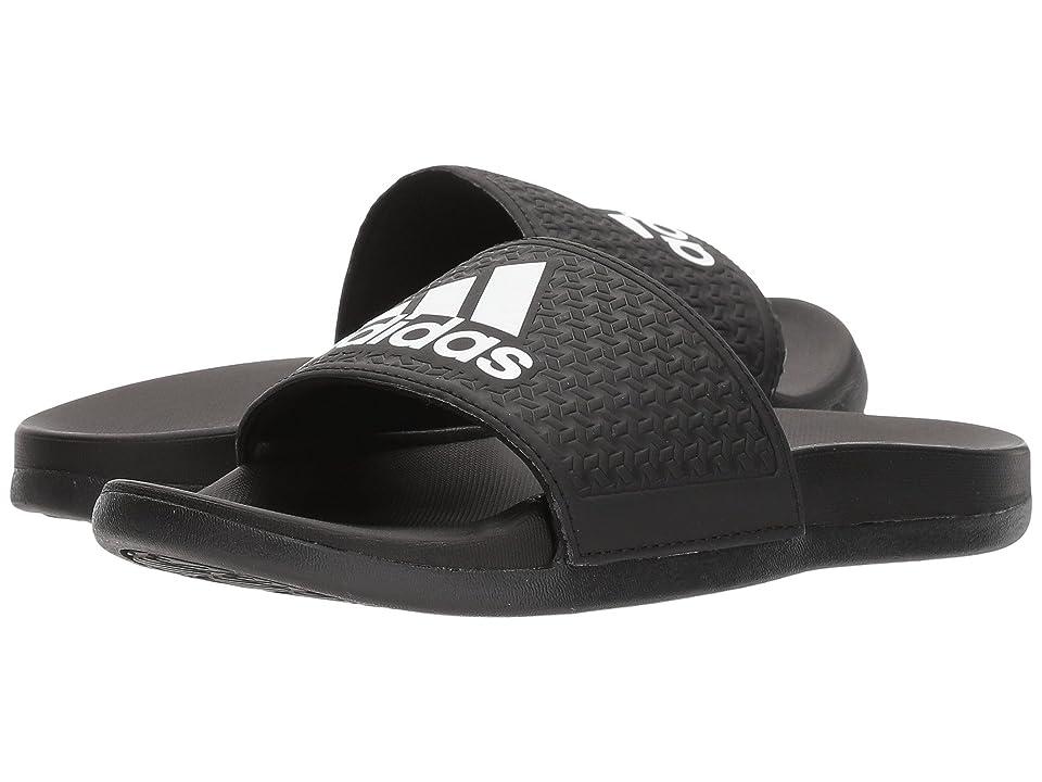 adidas Kids Adilette Comfort K (Toddler/Little Kid/Big Kid) (Black/Grey/White) Boys Shoes