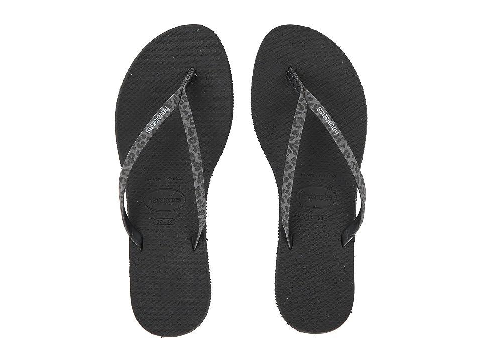 Havaianas You Animals Flip-Flops (Black) Women