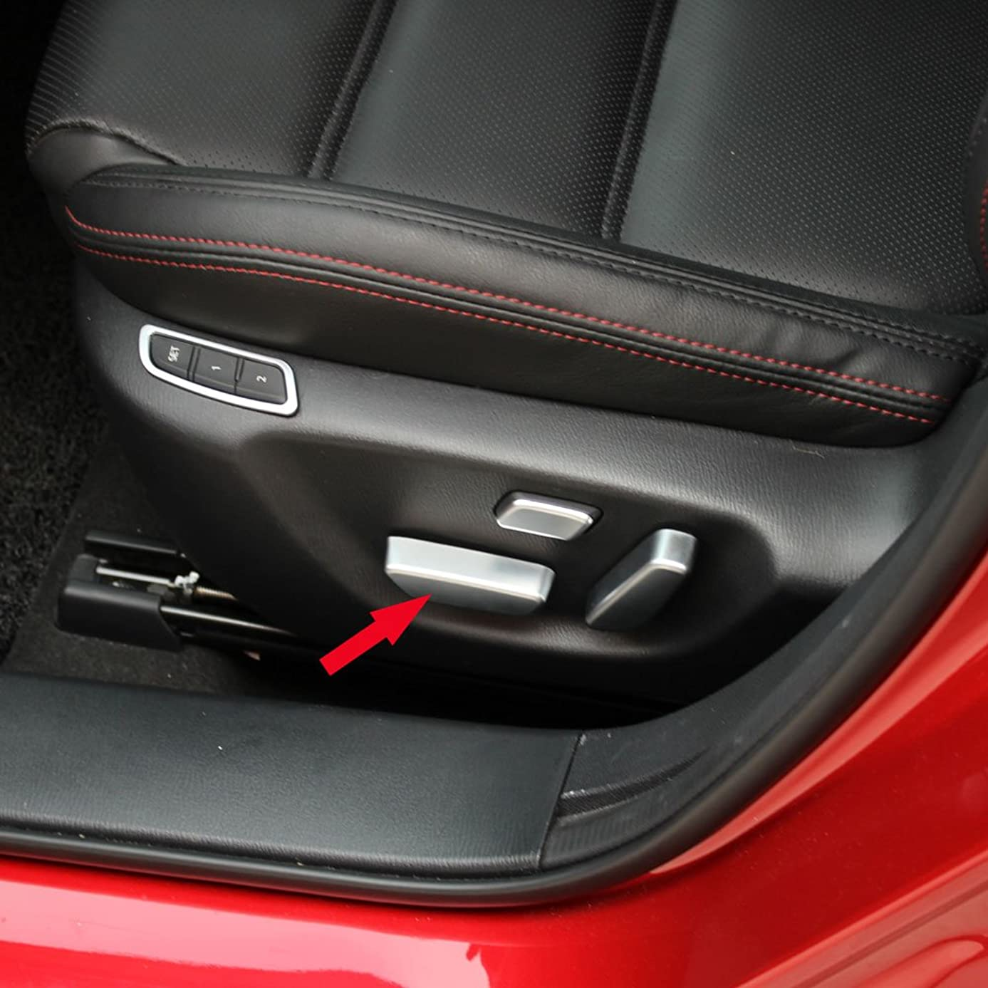 Generic Matte Door Seat Button Adjust Switch Cover Trim Fit For Mazda 6 Atenza 2014 2015 2016 2017