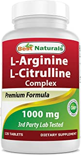Best Naturals Arginine Citruline Complex 1000 Mg 120 Tablets