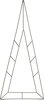 Darice 171890 Floral Metal Form Triangle, 28