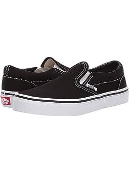 vans leather slip on kids