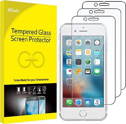 JETech Protector de Pantalla para iPhone 6, iPhone 6s, iPhone 7, iPhone 8, Vidrio Templado, 3 Unidades