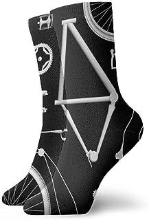 QUEMIN, Calcetines con explosión de bicicleta Calcetines cortos deportivos clásicos de ocio 30cm / 11.8 pulgadas Adecuado para hombres Mujeres Calcetines de algodón casuales Calcetines deportivos Calcetines d