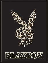 Playboy Bunny Leopard High Pile Thick Fleece Throw Blanket 50