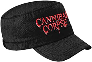 Cannibal Corpse Logo Official Black Cadet Cap Size One Size