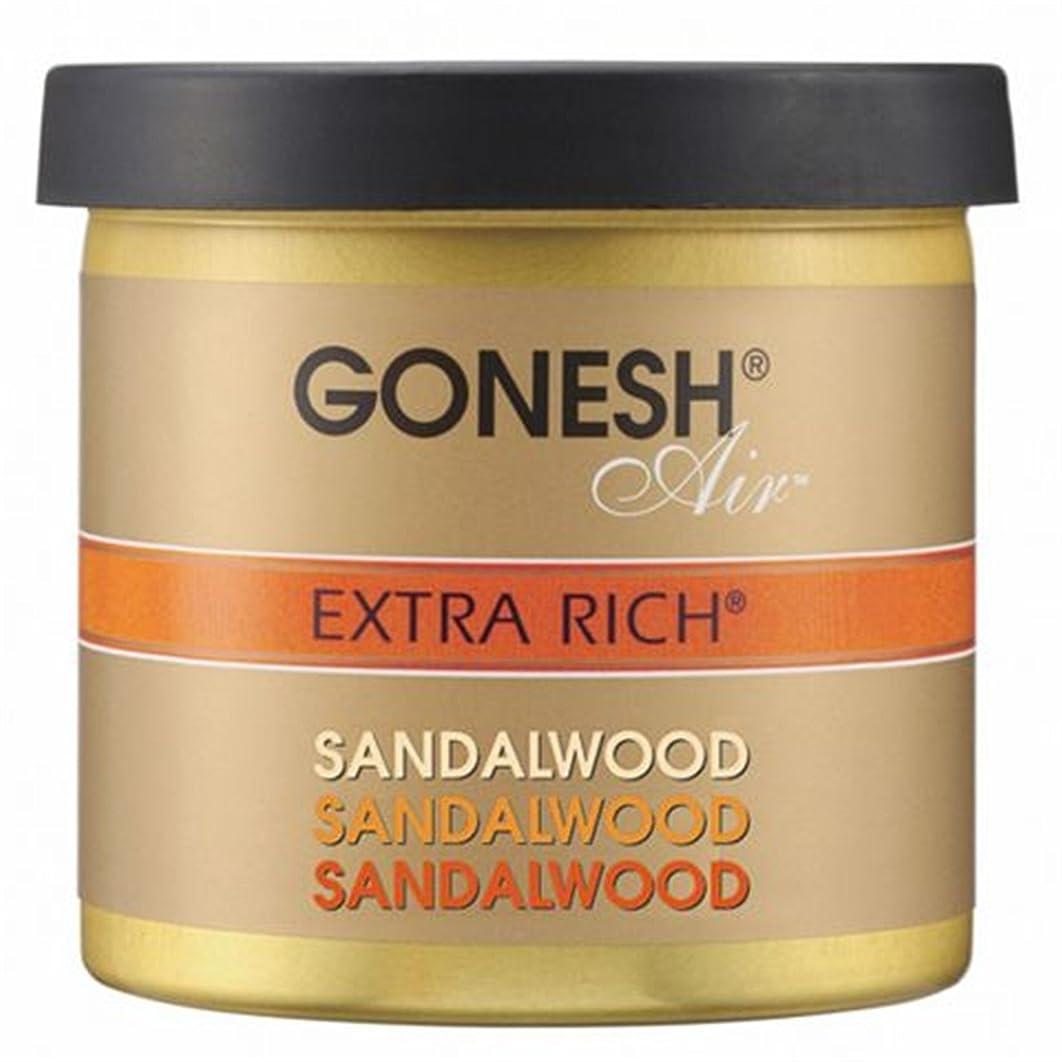 合唱団関係柱GONESH(ガーネッシュ)ゲルエアフレッシュナー サンダルウッド 78g (白檀の香り)