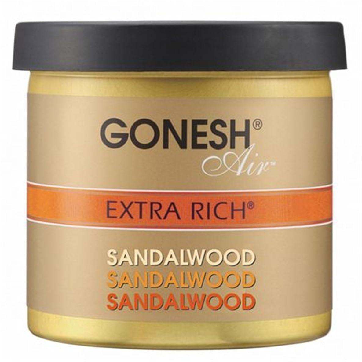 六交換可能コンパイルGONESH(ガーネッシュ)ゲルエアフレッシュナー サンダルウッド 78g (白檀の香り)