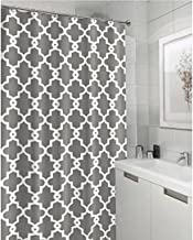 Vandarllin Geometric Patterned Waterproof 100% Polyester Fabric Shower Curtain for Bathroom 72