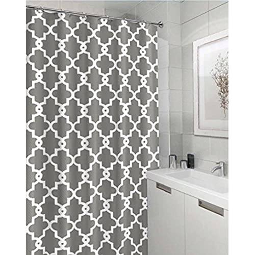 Vandarllin Geometric Patterned Waterproof 100 Polyester Fabric Shower Curtain For Bathroom 72 X 84