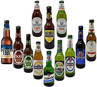 Non-Alcoholic Beer Variety Pack, Beck's, Bitburger, Buckler, Clausthaler Premium and Amber, Coors, St. Pauli Girl, Einbeck...