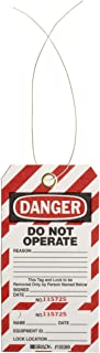Brady 65440Danger DO NOT Operate Lockout Tags 5 3//4H x 3W Black//White//Red