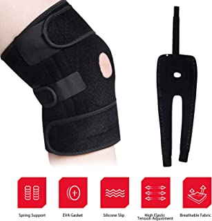 Knee Braces for Men Women - Compression Knee Brace Support for Knee Pain with Side Stabilizers & Pads & Non Slip Comfort Neoprene, Adjustable Bi-Directional Straps (XL)