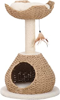 PetPals Group Recyclegreen Paper Rope Condo and Perch