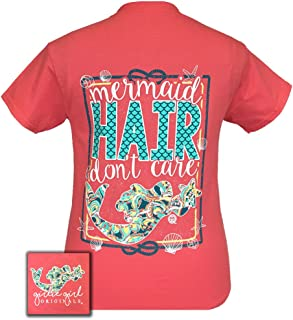 Girlie Girls Mermaid Hair Don't Care Short Sleeve T-Shirt