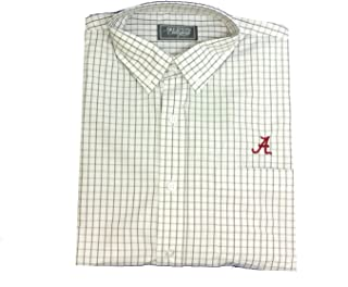 Alabama Crimson Tide Multi-Gingham Elephant Button Down Long Sleeve Dress Shirt