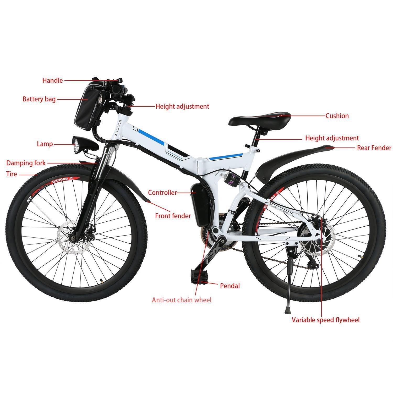 oldhorse bicicleta eléctrica de montaña Montaña 26