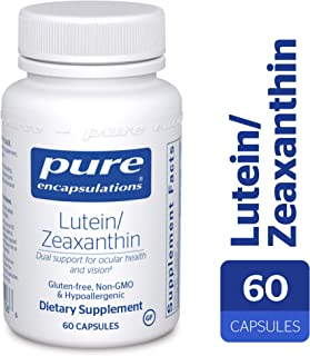 Pure Encapsulations - Lutein/Zeaxanthin - High Strength Blend for Macular Support and Overall Visual Functioning* - 60 Capsules