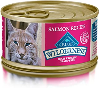 Blue Buffalo Wilderness Adult Grain Free Salmon Pate Wet Cat Food 3-oz (Pack of 24)