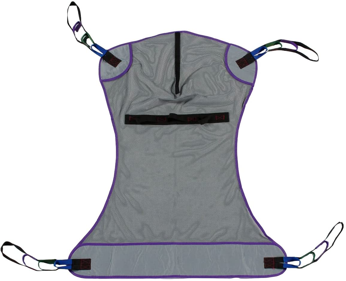 Patient Aid Full Body Mesh Patient Lift Sling, 600lb Weight Capa ...